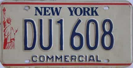 1986 New York  (Non Passenger) license plate for sale