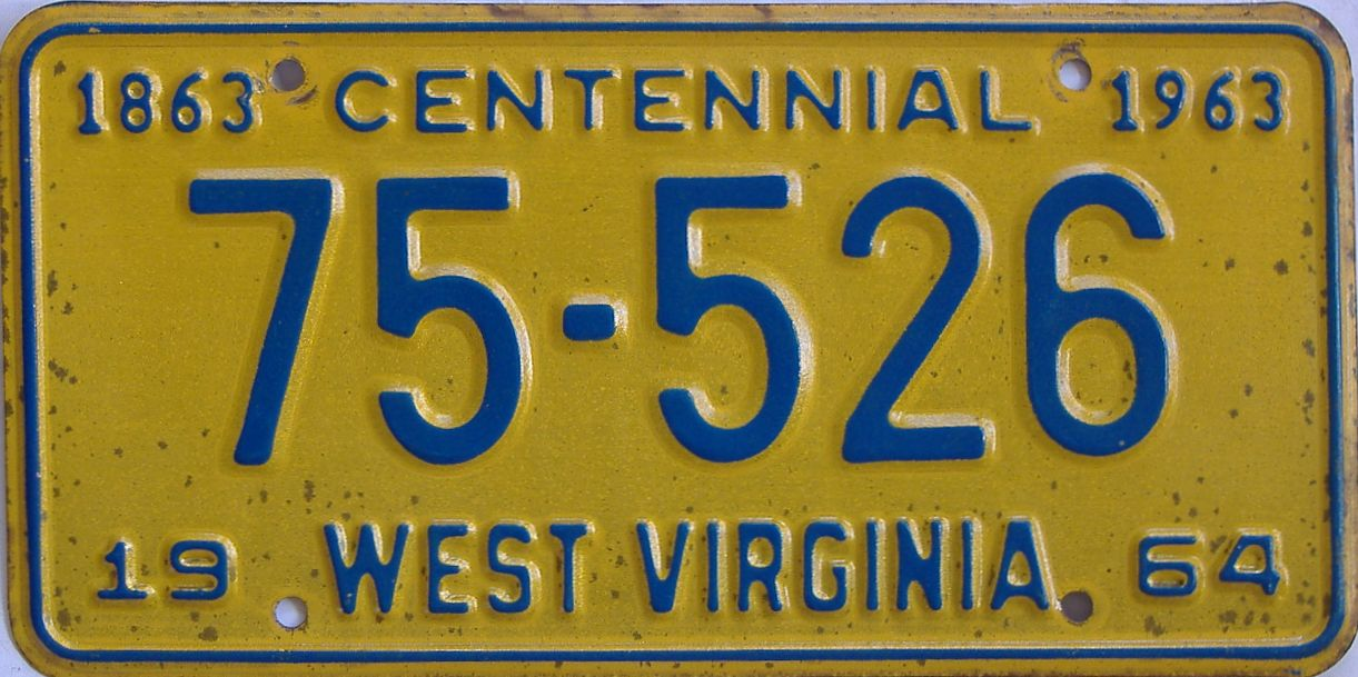 1964 West Virginia license plate for sale