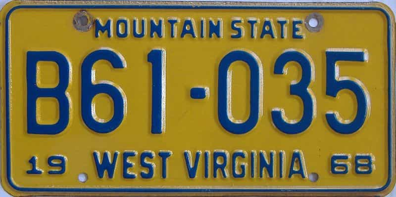 1968 West Virginia (Truck) license plate for sale