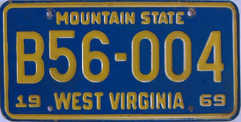 1969 West Virginia (Truck) license plate for sale