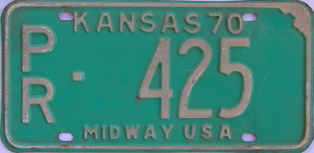 1970 Kansas license plate for sale