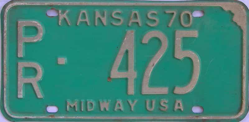 1970 KS license plate for sale