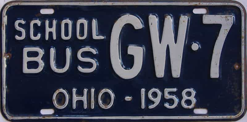 1958 OH (Non Passenger) license plate for sale