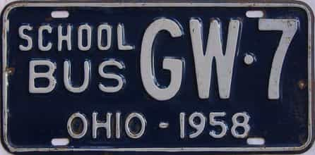 1958 Ohio (Non Passenger) license plate for sale