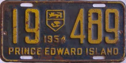 1954 PEI license plate for sale