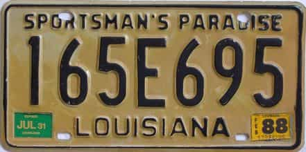 1988 Louisiana license plate for sale