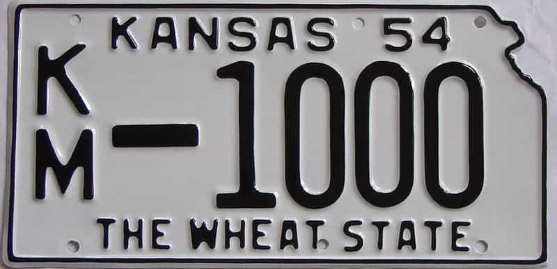 RESTORED 1954 KS license plate for sale