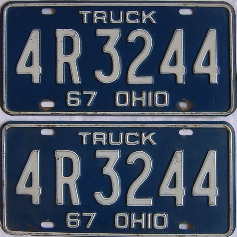 1967 Ohio (Truck) license plate for sale