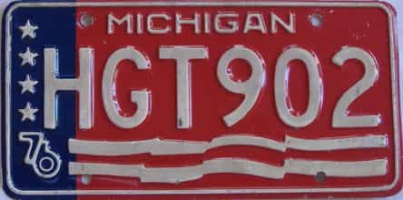 1976 Michigan (Single) license plate for sale