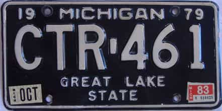 1983 Michigan license plate for sale