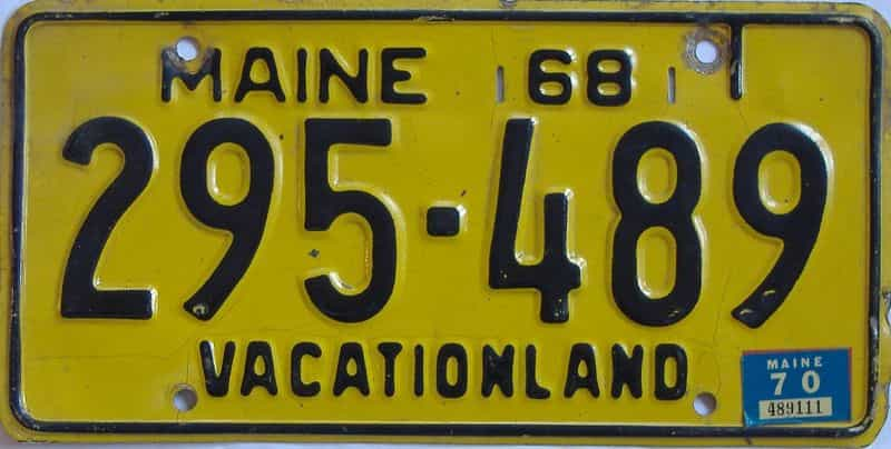 1970 ME (Single) license plate for sale
