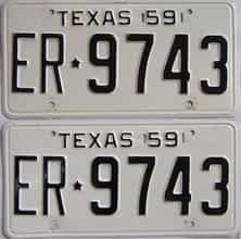 1959 Texas (Pair) license plate for sale