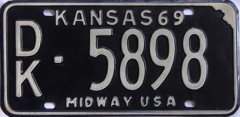 1969 Kansas license plate for sale
