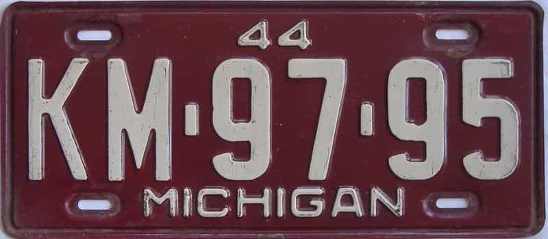 1944 MI license plate for sale