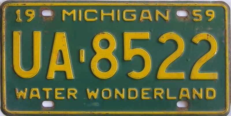 1959 MI (Single) license plate for sale