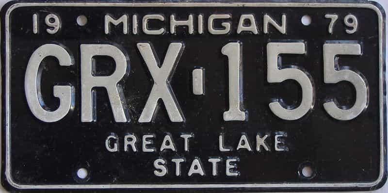 1979 MI (Single) license plate for sale