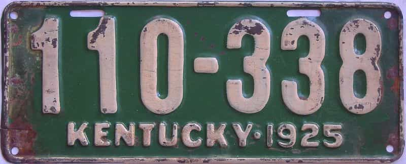 1925 Kentucky  (Single) license plate for sale