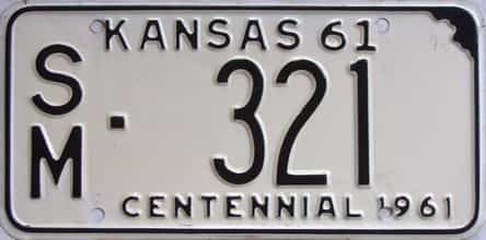 1961 Kansas license plate for sale