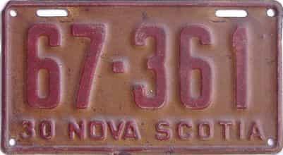 1930 CANADA (Nova Scotia)