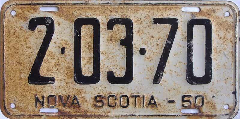 1950 Nova Scotia license plate for sale