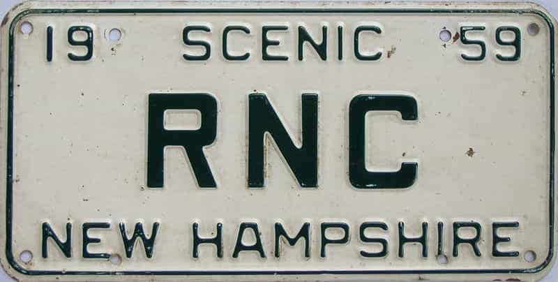 1959 NH (Vanity) license plate for sale