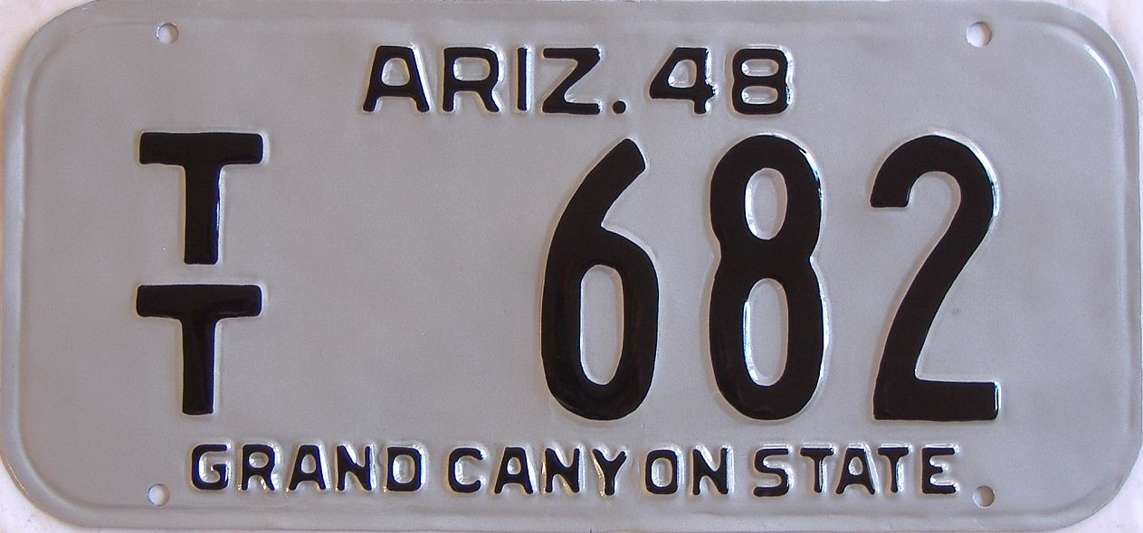 RESTORED 1948 Arizona (Single) license plate for sale
