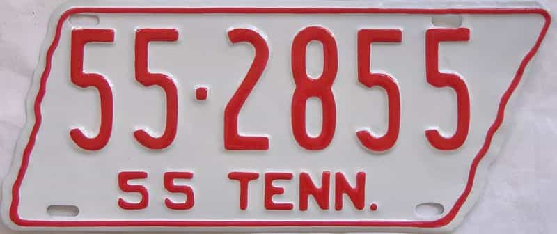 RESTORED 1955 Tennessee (Single) license plate for sale