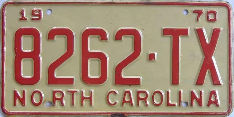 1970 North Carolina (Truck) license plate for sale