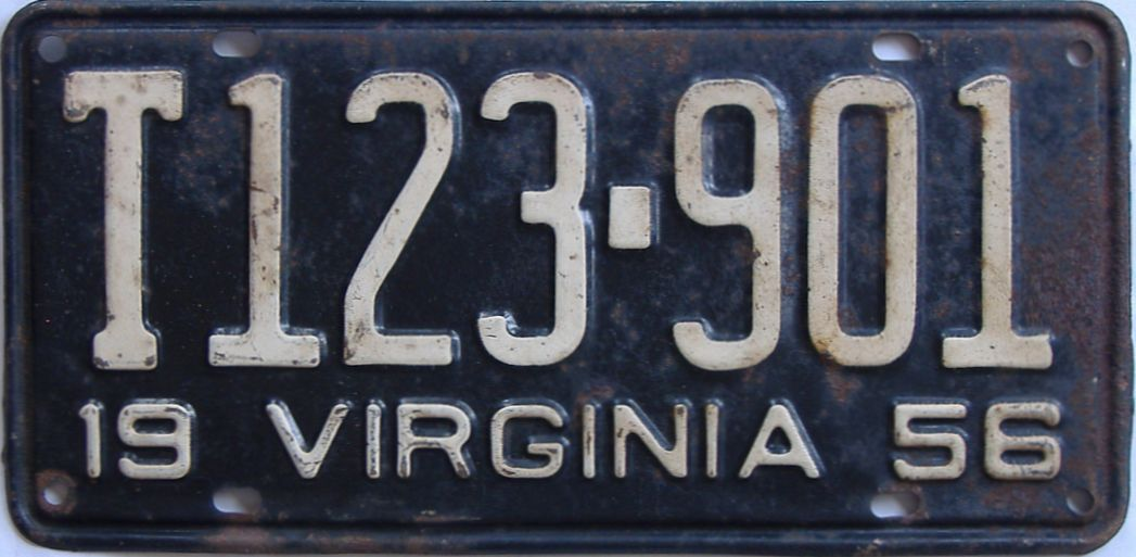 1956 Virginia (Truck) license plate for sale