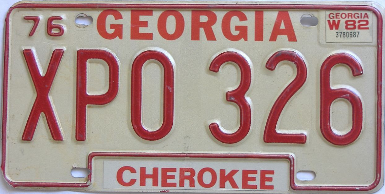 1982 Georgia (Natural) license plate for sale