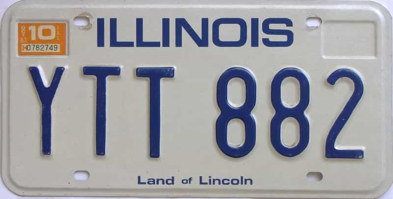 1983 IL (Single) license plate for sale