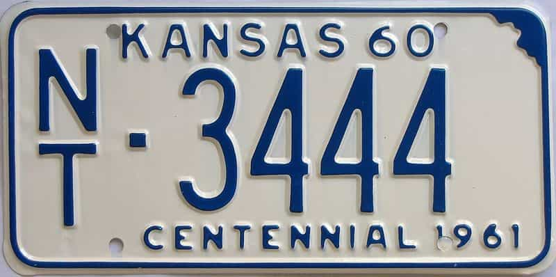 1960 Kansas license plate for sale