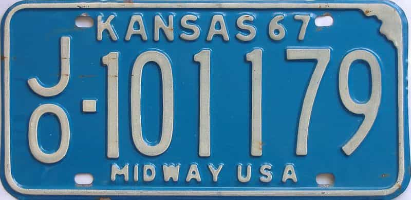 1967 Kansas license plate for sale