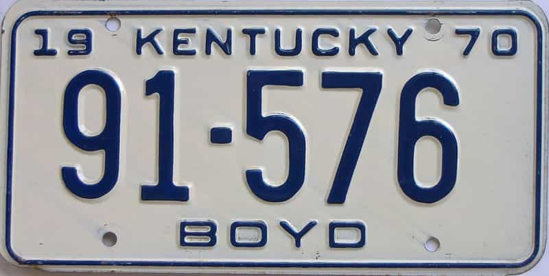 1970 KY license plate for sale