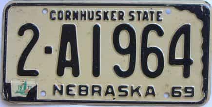 1971 Nebraska (Single) license plate for sale