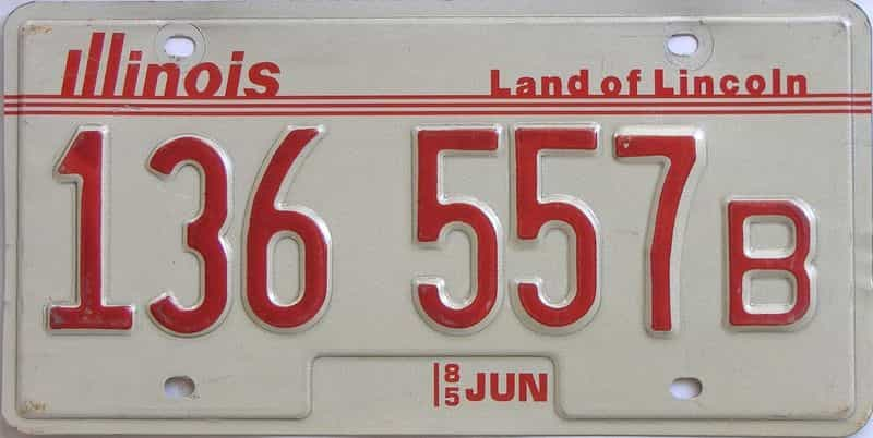 1985 Illinois (Truck) license plate for sale
