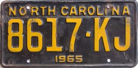 1965 North Carolina (Truck) license plate for sale