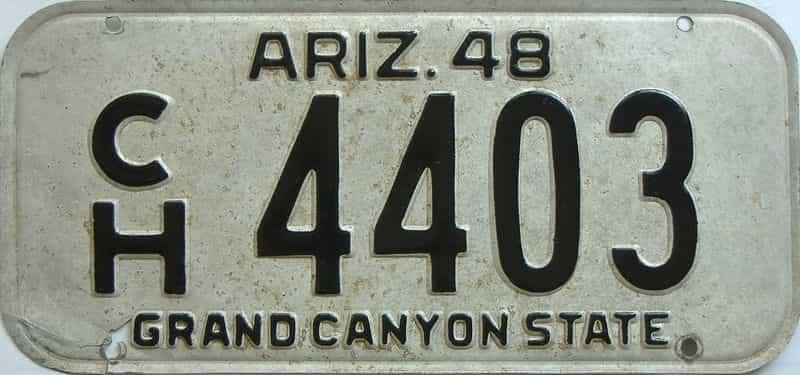 1948 AZ (Single) license plate for sale