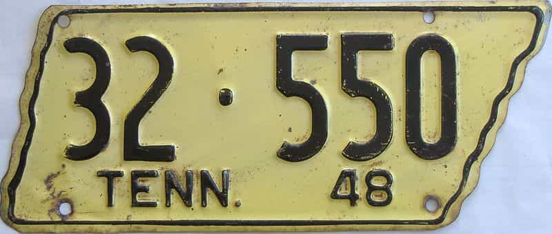 1948 TN (Single) license plate for sale