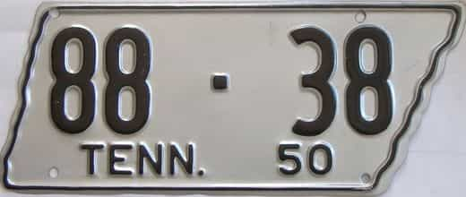 1950 Tennessee (Older Restoration) license plate for sale