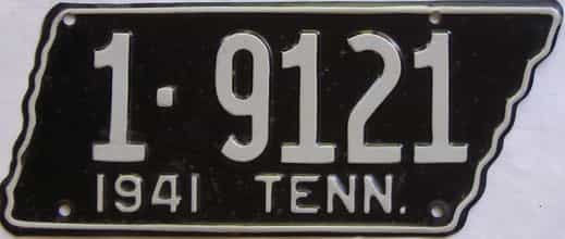 1941 Tennessee (Relettered) license plate for sale