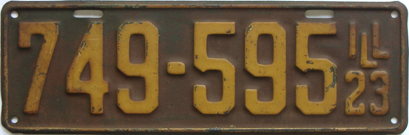 1923 Illinois (Single) license plate for sale