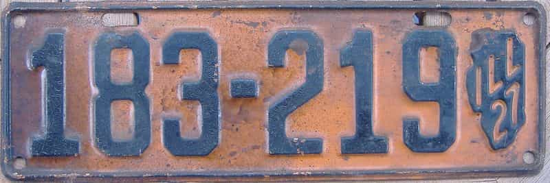 1927 Illinois (Single) license plate for sale