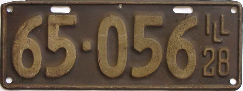 1928 Illinois (Single) license plate for sale