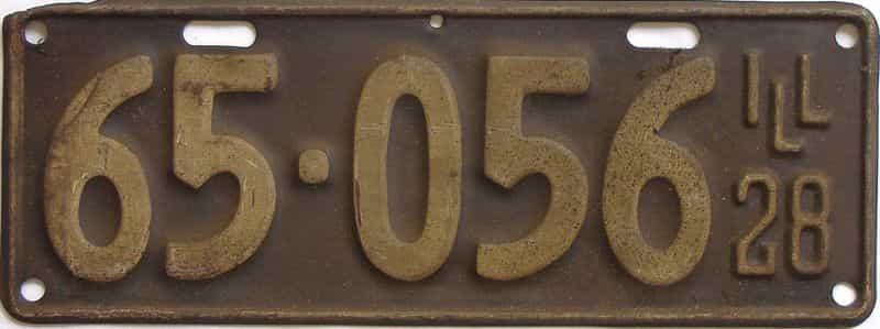 1928 IL (Single) license plate for sale
