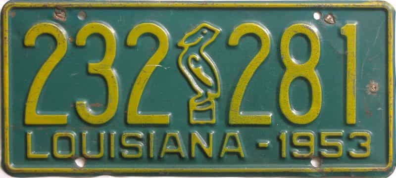 1953 Louisiana license plate for sale