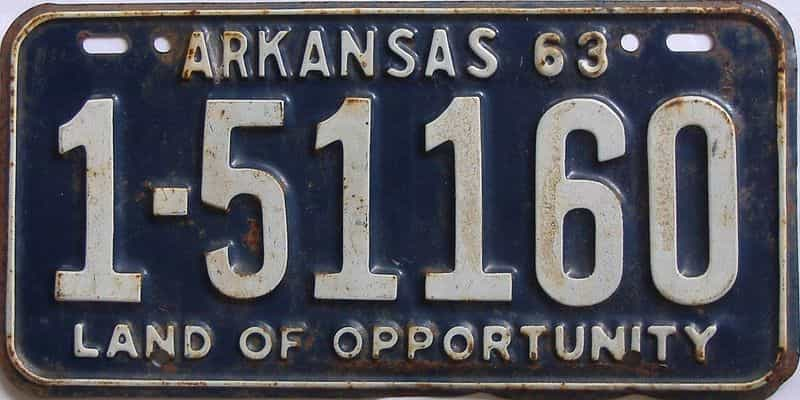 1963 Arkansas license plate for sale