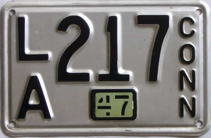 1947 CT (Single) license plate for sale