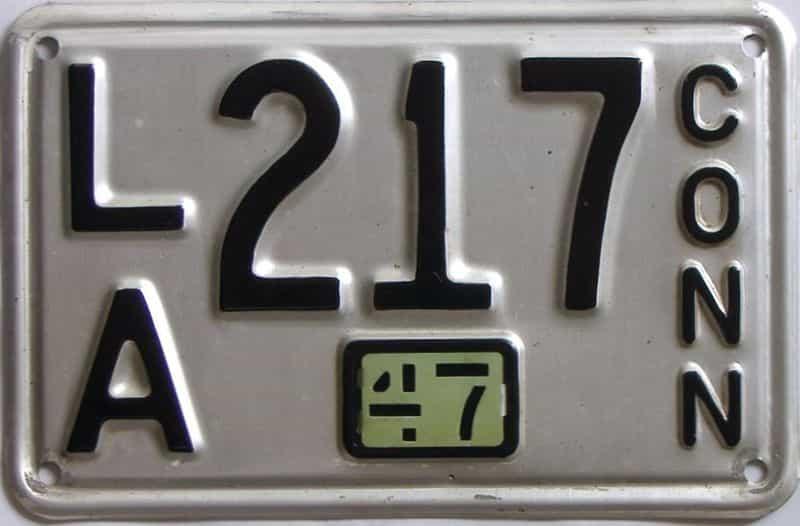 1947 Connecticut (Single) license plate for sale