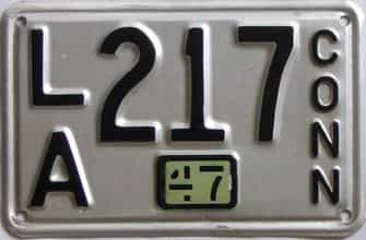 1947 Connecticut (Single) license plate for sale